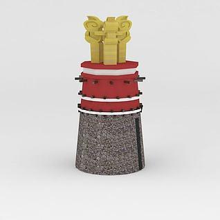 藏式雕塑3d模型