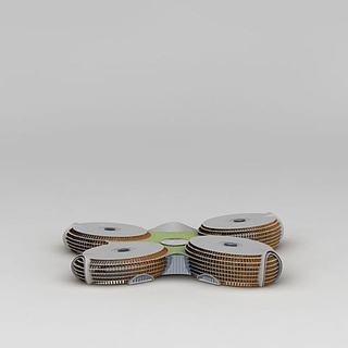 现代创意异形建筑3d模型