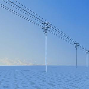 電線桿模型3d模型