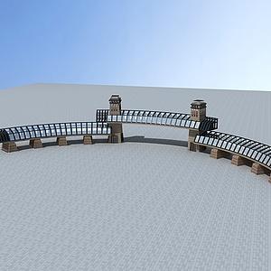 公园景区大门模型3d模型
