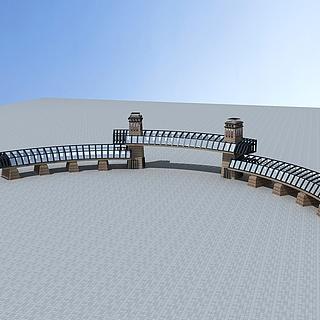 公园景区大门3d模型