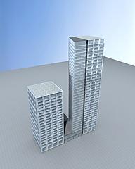 现代高层办公楼模型3d模型