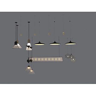 餐厅吊灯组合3d模型3d模型