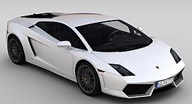 白色跑车3d模型
