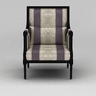 中式复古风沙发椅3d模型