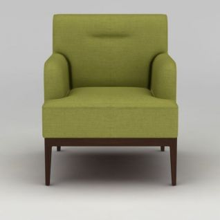 草绿色简约单人沙发3d模型