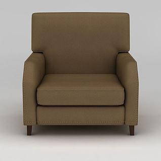 简约铆钉单人沙发3d模型