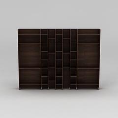实木书柜博古架模型3d模型