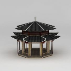 古亭3d模型