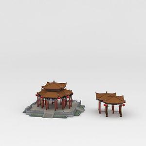 古建筑亭子模型