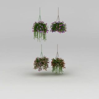 垂吊花盆3d模型