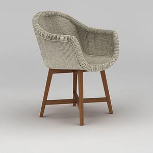 3d时尚精品藤椅模型