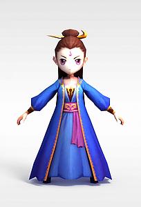 手游人物夏紫薰模型3d模型