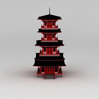 唐风塔3d模型