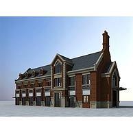 欧式商业建筑楼3D模型3d模型