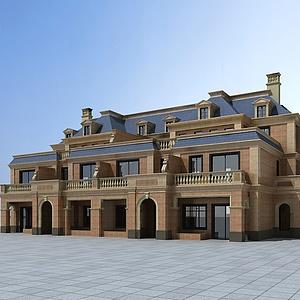 歐式風格別墅模型