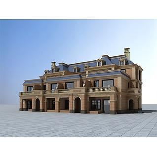 欧式风格别墅3d模型3d模型图片
