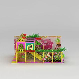 淘气堡儿童滑梯3d模型3d模型