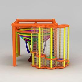 儿童室内游乐绳网模型