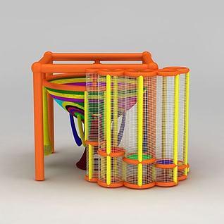 儿童室内游乐绳网3d模型