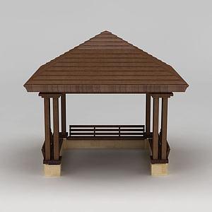 公园木亭子模型3d模型