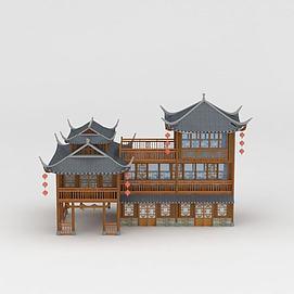 3d古建商铺模型