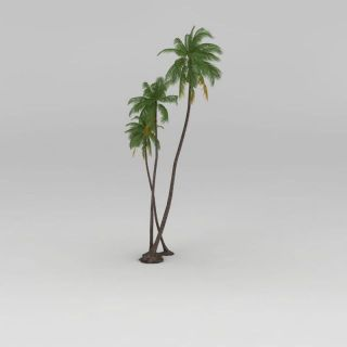 椰子<font class='myIsRed'>树</font>3d模型