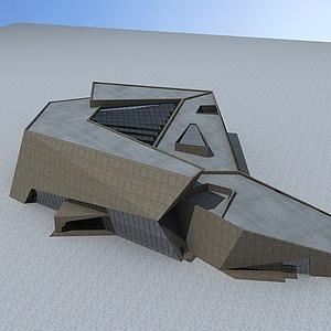 科技中心建筑大樓模型3d模型