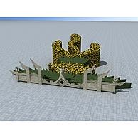 凤凰造型花圃3D模型3d模型