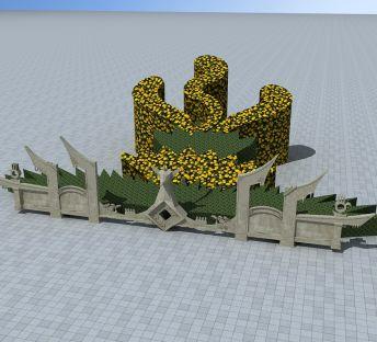 凤凰造型花圃