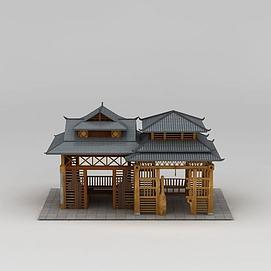 休闲亭3d模型