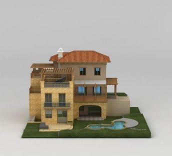 现代三层别墅