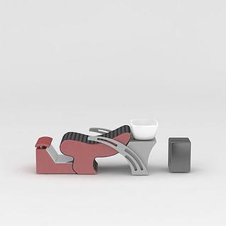 专业洗头椅3d模型