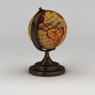 复古地球仪3d模型3d模型
