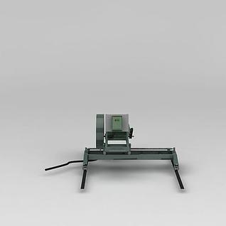 路面切割机3d模型