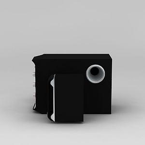 漫步者音箱3d模型