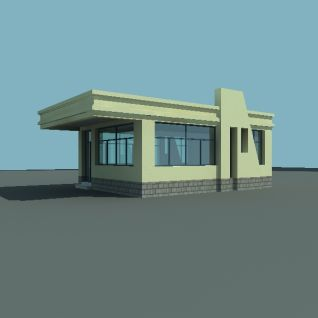 警卫室3d模型