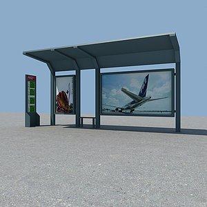 3d公交站台模型