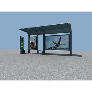 公交站台3d模型3d模型