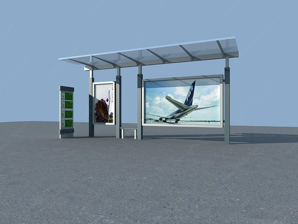 雨棚3d模型_3d公交车站台模型,公交车站台3d模型下载_3D学苑
