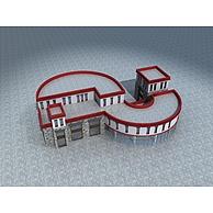 藏式商业建筑3D模型3d模型