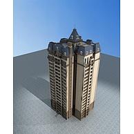 欧式高层住宅3D模型3d模型