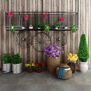 花卉盆景3d模型