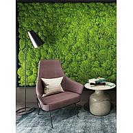 绿苔植物墙休闲椅3D模型3d模型