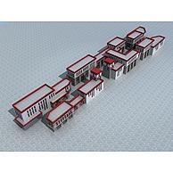 藏式商业街3D模型3d模型