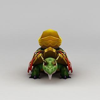 花千骨游戏黄金龟3d模型
