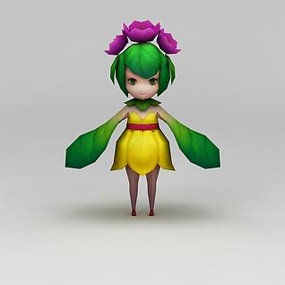 花千骨游戏桃花精3d模型