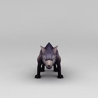 花千骨游戏素材狼3d模型