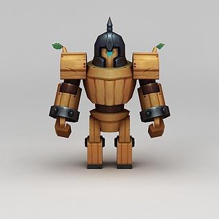 花千骨游戏木头兵3d模型3d模型