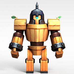 花千骨游戲木頭兵模型3d模型